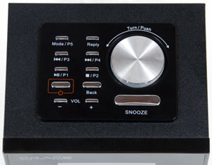 Control panel of the Grace Digital Allegro GDI-IRD4000 Wi-Fi Radio