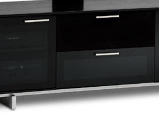 Amazon Com Bdi Avion Noir 8937 Triple Wide Entertainment Cabinet
