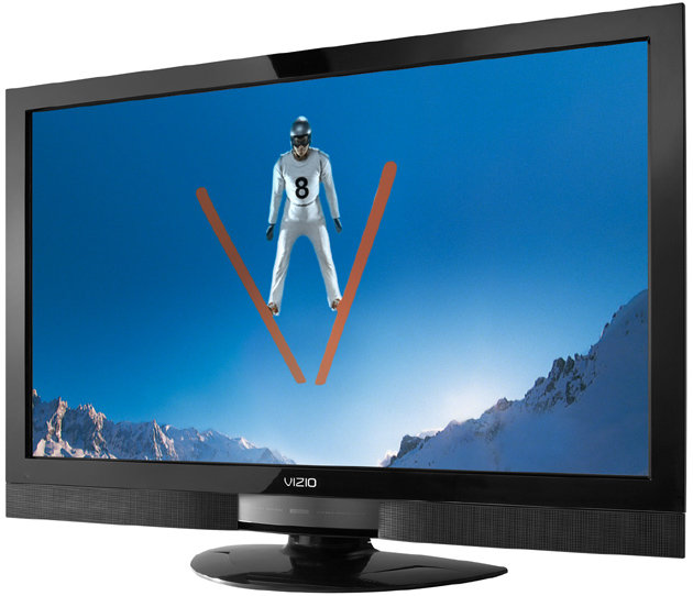 Front View Of The VIZIO SV320XVT 32 Inch LCD HDTV