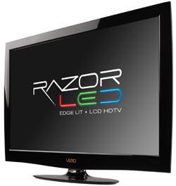Front view of the VIZIO M370NV 37-inch RazorLED LCD HDTV