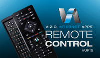 VIZIO's VUR10 QWERTY remote used for Internet Apps