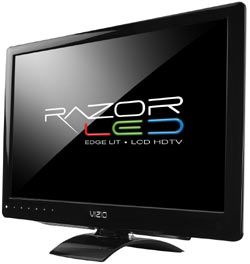 Front view of the VIZIO M260MV 26-inch LED backlit LCD HDTV