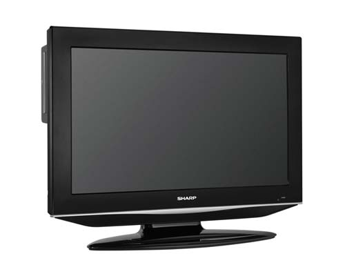sharp aquos lc32dv28ut 32 inch lcd tv dvd combo unit black electronics. Black Bedroom Furniture Sets. Home Design Ideas