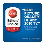 VIERA VT25 Series CNET Award