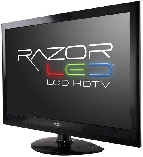 vizio tv monitor. front view of the vizio m260vp 26-inch razorled lcd hdtv vizio tv monitor