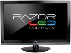 Front view of the VIZIO E320VP 32-inch RazorLED LCD HDTV