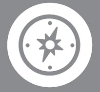 This is a picture of a compass logo