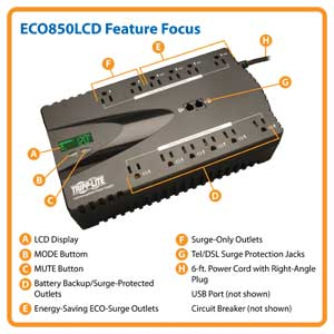 ECO850LCD Feature Focus