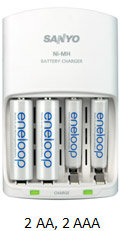 4-position Ni-MH battery charger