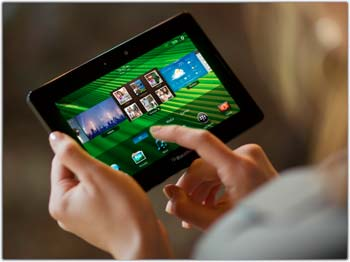 BlackBerry PlayBook hands