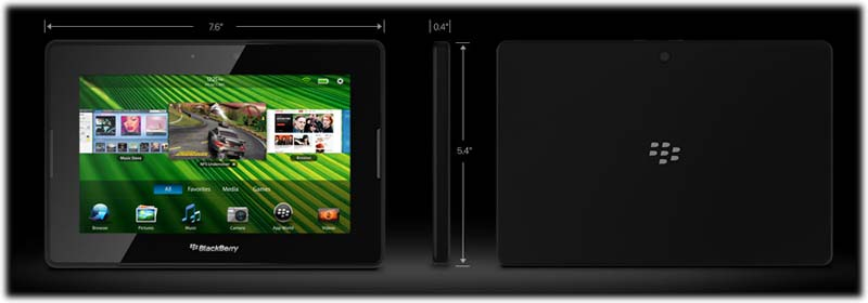 BlackBerry PlayBook size