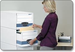 Fellowes Bankers Box Stor/Drawer Steel Plus Storage Drawer lifestyle shot