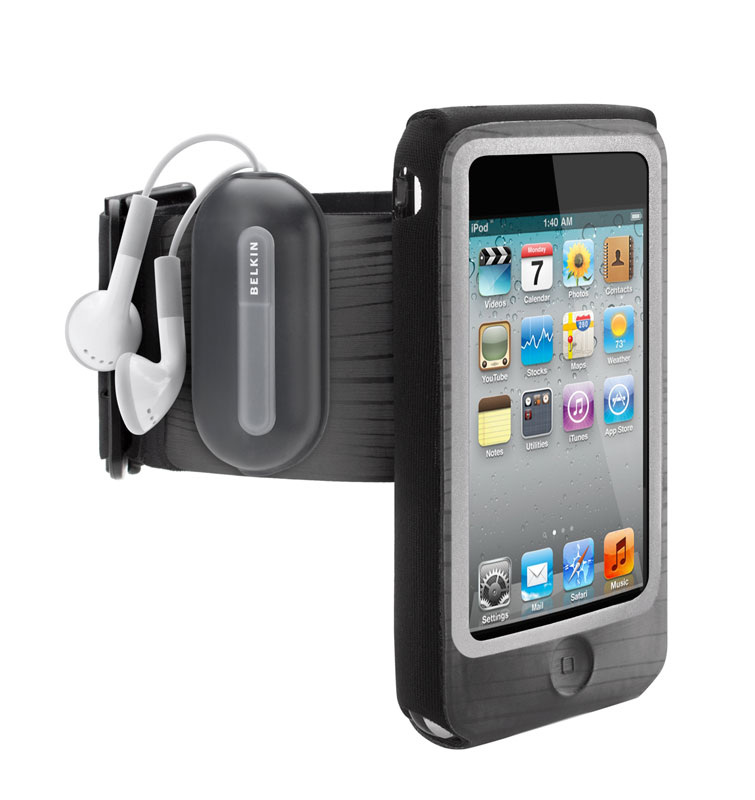 belkin fast fit armband for apple ipod touch black blue electronics. Black Bedroom Furniture Sets. Home Design Ideas