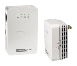 NETGEAR Powerline AV 200 Wireless-N Extender Kit (XAVNB2001)
