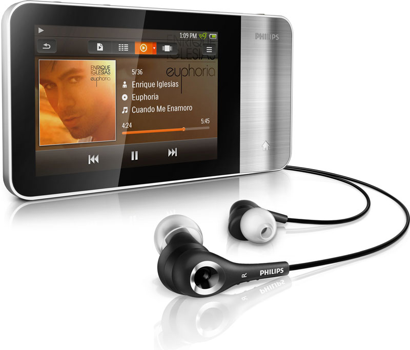 philips gogear muse 16gb mp4 player sa3mus16s home audio theater. Black Bedroom Furniture Sets. Home Design Ideas