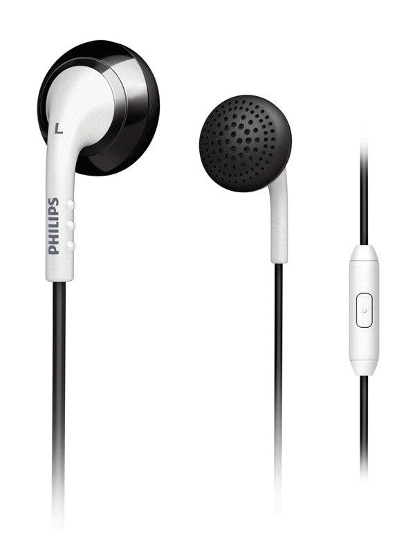 931f193785c7fd Amazon.com: Philips SHE2675BW/28 In-Ear Headset (White/Black ...