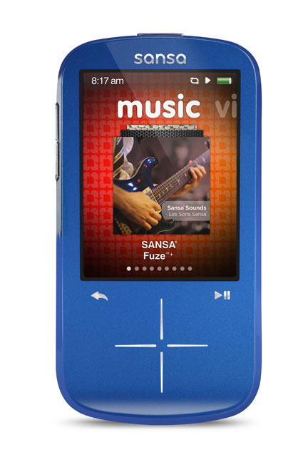 SanDisk Sansa Fuze+ 4 GB MP3 Player (Blue) (Discontinued by Manufacturer)