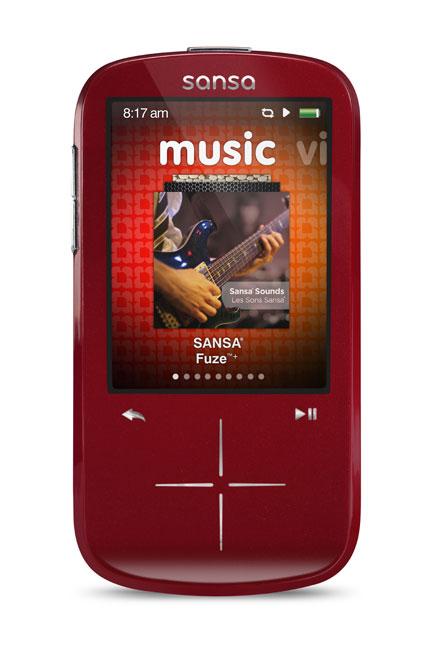 amazon com sandisk sansa fuze 4 gb mp3 player red discontinued rh amazon com Sansa View Accessories Toshiba Hard Drive Sansa
