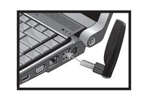 Plug USB Transmitter into Computer