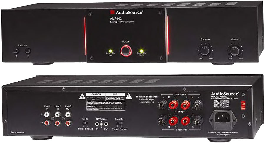 Harman Kardon Car Audio: AudioSource AMP 102 50-Watt Stereo 150-Watt Mono Power