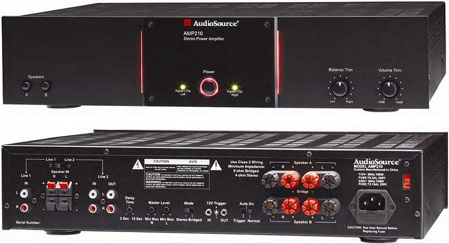 amazon com audiosource amp 210 90 watt stereo 250 watt mono power rh amazon com Home Theater Subwoofer Amp AudioSource AMP One a Pics