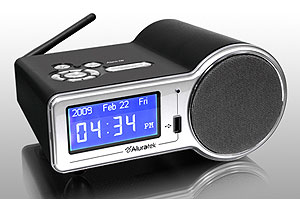 aluratek airmm01f internet radio alarm clock with built in wifi. Black Bedroom Furniture Sets. Home Design Ideas