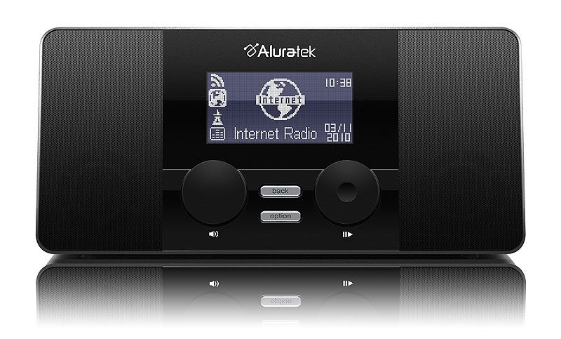 aluratek airmm02f wifi internet radio alarm clock with remote black discontinued. Black Bedroom Furniture Sets. Home Design Ideas