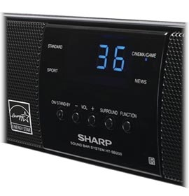 sharp sound bar. sharp htsb200 2.1 sound bar