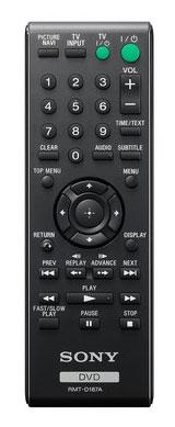 Sony DVP-SR500H remote