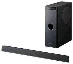 The Sony HT-CT100 Center Speaker and Subwoofer