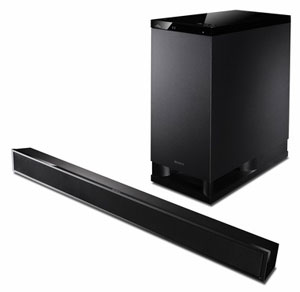 The Sony sound bar and subwoofer: achieve immersive sound without all