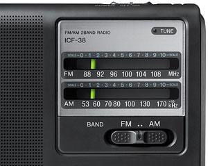 Sony icf38 portable am fm radio black home for Classic house radio station