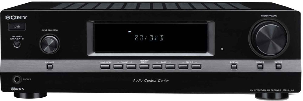 Amazon Com Sony Str Dh100 2 Channel Audio Receiver Black