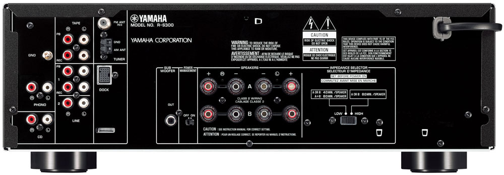 yamaha r s300bl stereo receiver black. Black Bedroom Furniture Sets. Home Design Ideas