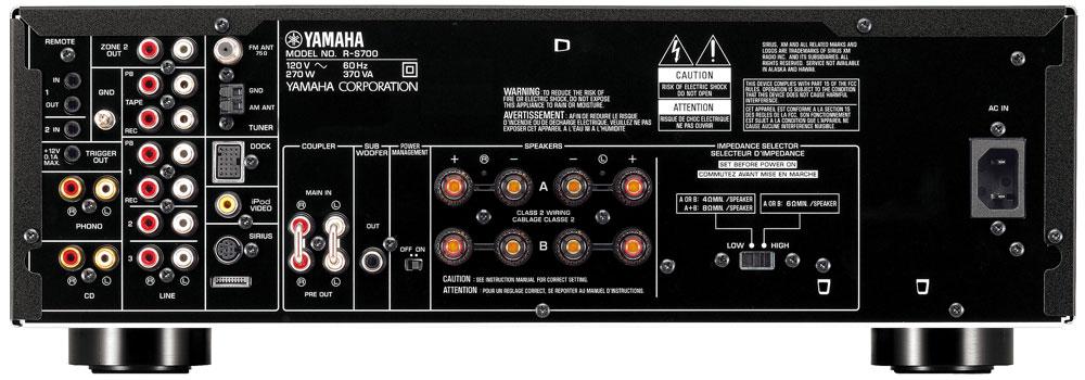 yamaha r s700bl natural sound stereo receiver. Black Bedroom Furniture Sets. Home Design Ideas