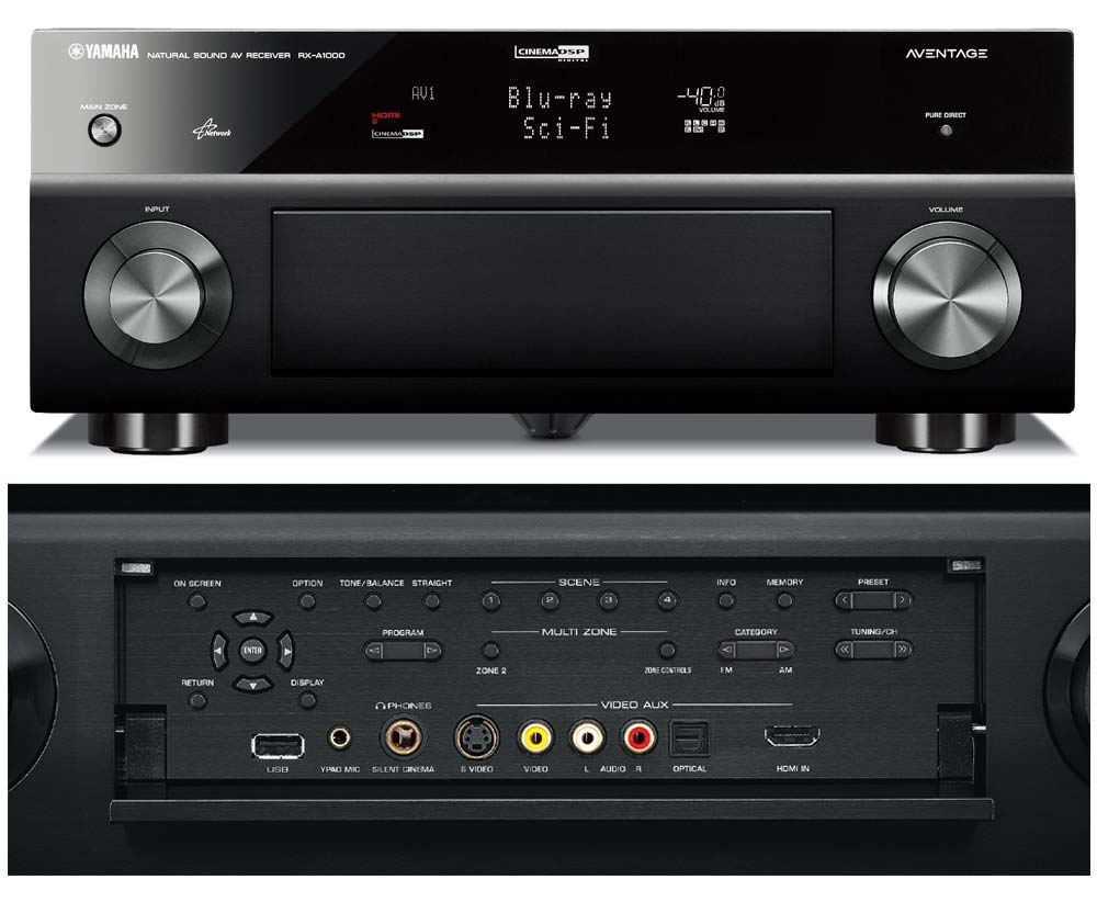 yamaha rx a1000 7 1 channel home theater