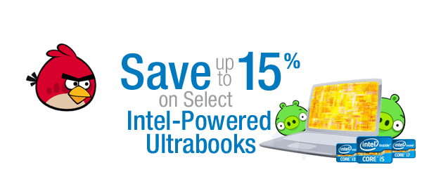 Save up to 15% on Select Ultrabooks