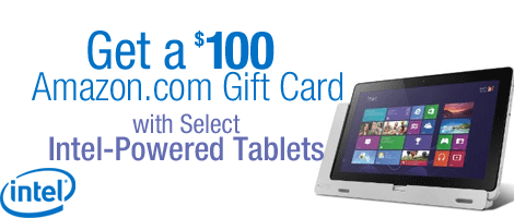 Get a $100 Amazon.com Gift Card with Select Tablets