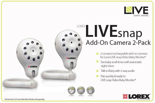 Lorex LIVE snap Add-On Camera 2-Pack - LW2003AC2B