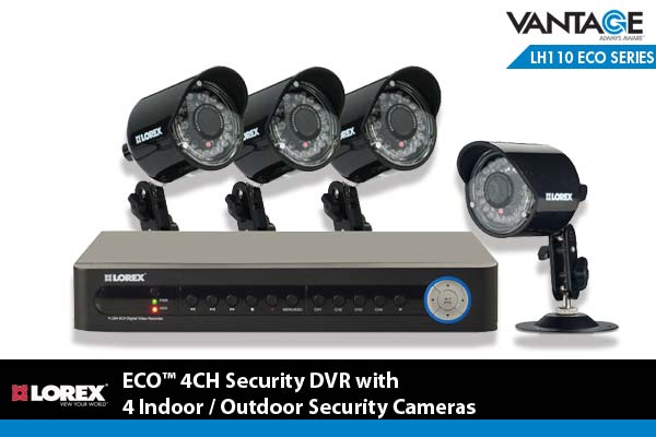 Amazon.com : Lorex ECO 4 Channel Security DVR with 4 ...