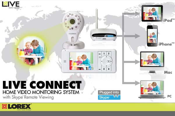 Lorex LIVE connect Home Video Monitor - LW2031