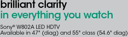Amazon com: Sony KDL-55W802A 55-Inch 120Hz 1080p 3D Internet LED