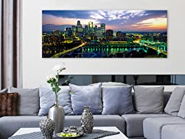 Dramatic Skyline Art Canvas