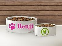 Personalized Ceramic Dog Bowl