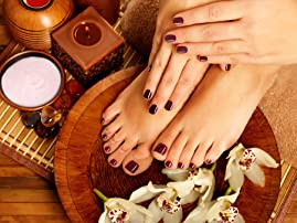 Shellac Spa Manicure or Mani/Pedi Package