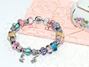 Custom IRIS Charm Bracelet with Personalized Choice of Beads and Charms