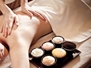 Massage with Hot Stones, Cupping, or Body Scrub