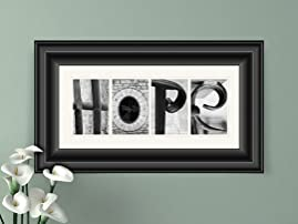 Customized Alphabet Photo Art with Free Shipping