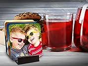 Custom Photo Coasters: Set of Four or Eight