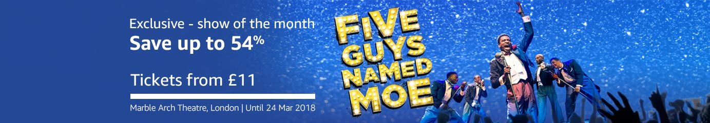 Five Guys Named Moe on Amazon Tickets